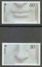Germany 1986 MNH Mi 1278-1279 Sc 1457-1458 Michelangelo's David.Europa **