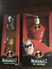 Brand New ! Incredibles 2 Mr. Incredible and Jack-Jack & Raccoon Lot (2).