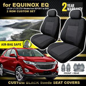 Holden Equinox EQ Black Custom Seat Covers 2Rows LS LS+ LT LTZ LTZ-V 9/2017-2020