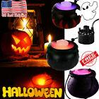 Cauldron Halloween Mister Mist Smoke Fog Machine Color Changing Party Prop Black