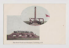 OLD PRIVATE POSTCARD OF THE BOMB PROOFS & MONUMENT LOUISBURG NOVA SCOTIA  CANADA