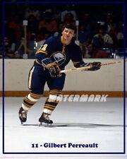 1970's NHL HOFer Gilbert Perreault Buffalo Sabres Color 8 X 10 Photo Free Ship