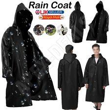 OUTDOOR WATERPROOF WOMEN MEN RAINCOAT EVA CLOTH LONG RAIN COAT PONCHO WITH HAT