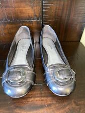 Woman's Shoes by Life Stride Size 7 Soft Soft System Silver Gray Flats