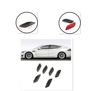ABS Plastic 6PCS Air Flow Vent Hoods Decoration Sticker Universal