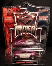 Maisto G Ridez Chopped Vw bug Pink w White Doors mint in clam pack