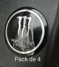 Lot de 4x Autocollant Sticker 3D métal 'Monster Energy'  style Valentino Rossi