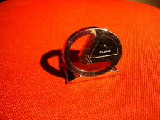 Lexus - Silver-plated steel paperweight/table clock with quartz movement