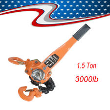 1.5 TON LEVER BLOCK CHAIN HOIST RATCHET TYPE COMEALONG PULLER LIFTER USA STOCK