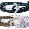 Wickelarmband Anker für Damen und Herren Unisex Armband Surfer Maritim Bracelet