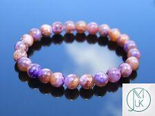 Charoite Natural Gemstone Bracelet 7-8'' Elasticated Healing Stone Chakra Reiki