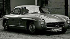 "Poster 24"" x 36"" Mercedes Benz 300 SL Old Car"