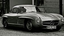 """Poster 24"""" x 36"""" Mercedes Benz 300 SL Old Car"""