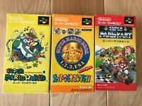 Lot MARIO KART Collection World SFC Super Famicom SNES NTSC-J CIB JAPAN Import