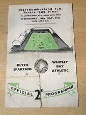 More details for blyth spartans v whitley bay northumberland senior cup final 1955@ st james park