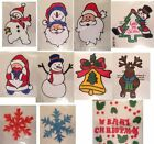 Christmas Window Clings Xmas Decorations Display Tree Santa Father Sticker Decal