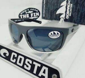 """COSTA DEL MAR fog gray/gray BROADBILL """"OCEARCH"""" POLARIZED 580P sunglasses! NEW!"""