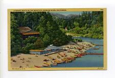 Russian River CA (Sonoma Co) This looks like Rio Nido, people, beach, boats 1947