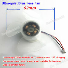 3V-9V DC Brushless Motor USB Electronic Fan DiY Science Learning Kit PWM Speed