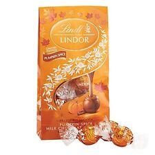 LINDT 5.1oz Bag PUMPKIN SPICE Milk Chocolate Truffles LINDOR Fall Candy Exp.3/18