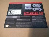 Authentic - SNES - Super Nintendo Classic Edition Mini Console w/ extra games