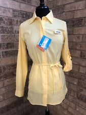 Columbia Offshore Perfection Yellow Button Up Tunic Blouse Women's Size XS *NWT*