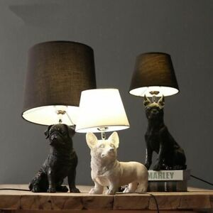Puppy Dogs Table Lamps Animals Desk Bedroom Bedside Kids Home Decor Lighting New
