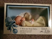 """VTG 1987 Playmates Tiara Dolls 9"""" Welcome Home Baby Fully Jointed Poseable  NIB"""