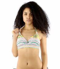 Stussy Womens Bardot Halter Bikini Top ONLY in Pink Size Medium