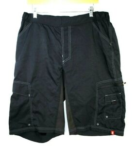 "Specialized Nylon Mountain Bike Shorts Mens XL Black MTB No Liner/Pad 13"""