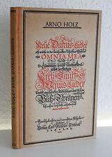 Holz: Neue Dafnis-Lieder Omniae Mea 1922 Hans Th. Hoyer Erstausgabe - Lyrik - xz