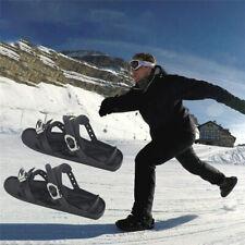 Einstellbare Ski Mini Schlitten Snowboard Wand Winter Skischuhe Mähdrescher #NEW