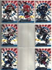 1999-00 Topps Premiere Plus 7-card Premiere Rookies Insert Lot  Gagne  Tanguay