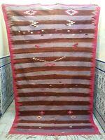 "Vintage Moroccan Handmade Rug Tribal azilal Old Kilim Rug wool 8'8"" x 5'2"""
