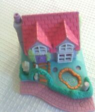 Polly Pocket Bluebird 1995 Vintage Blue House with Pink Roof no dolls