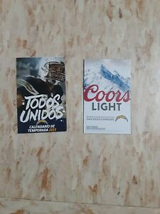 2015 San Diego Chargers (National Football League) Coors Light Spanish schedule
