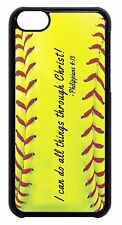 Softball Sport Bible Verse Quote Black/White Case Cover For Apple iPod 4 5 6