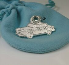 Tiffany & Co. Sterling Silver Taxi Tag Charm Pendant