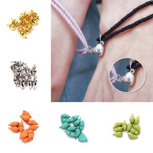 10pcs Love Heart Magnetic Buckle Bracelet Pendant DIY Jewelry Making Access^lk