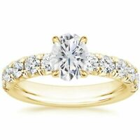 14k Gold Over 2ct Sapphire Diamond Solitaire Eternity Ring Sizes h i j l m q r s