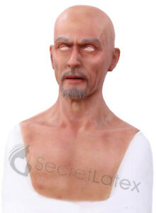 SILICONE MASK MAN MALE DISGUISE REALISTIC SPFX RUBBER REAL LIFE LIKE HAIR MASK