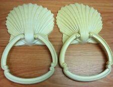 Homco 1976 Syroco Off White Towel Holders - Set of 2 - Sea Shells / Beachy