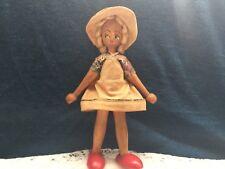 Vintage Polish Handmade Wooden Doll