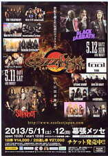 Ozzfest Japan 2013 Concert Flyer BLK ver Black Sabbath Slipknot Dir en Grey Tool