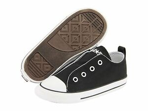 Converse Sneakers Black Hidden Secure Closure Little Boys/Girls Size 5