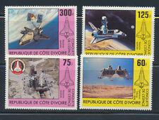IVORY COAST SPACE OPERATION VIKING NAVETTE SATELLITE YVERT 573-76, 1981 SET