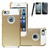 Hybrid Shockproof Hard Rugged Heavy Duty Cover Case For Apple iPhone SE 5 5S SE