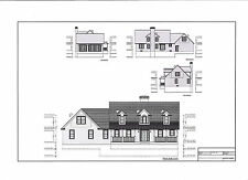 Full Set of two story 4 bedroom house plans 2,944 sq ft