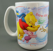 Coffee Mug Disney Snow Day Time For Play Pooh Tigger Eeyore Piglet Snowman 12oz