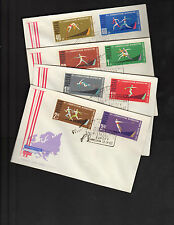 1962 Poland FDC Cover Lot of 4 SC 1079-1086 7th Euro Athletic Games, Imperf*